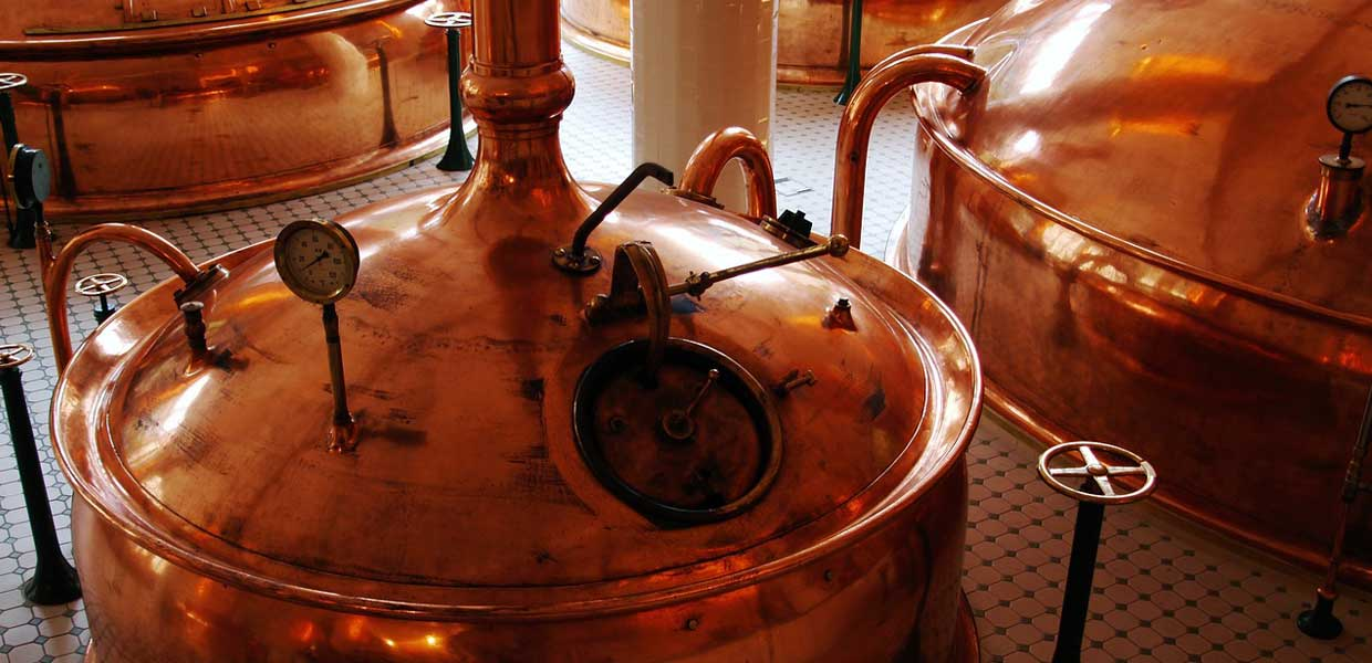 brass brewery vats slide background